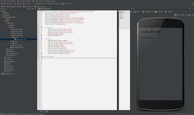 Android Studio mit Vanish Farbschema